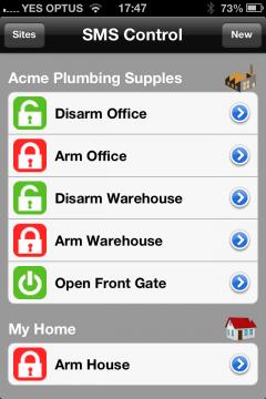 Ad ogni impianto è possibile assegnare un elenco di messaggi personalizzati ed eseguire quindi differenti azioni sull'impianto di casa, dell'ufficio o altri edifici.